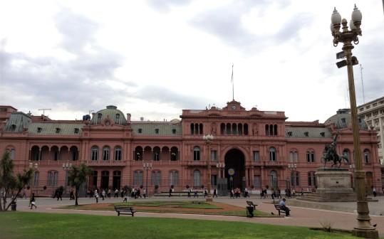 Fachada anterior Casa Rosada