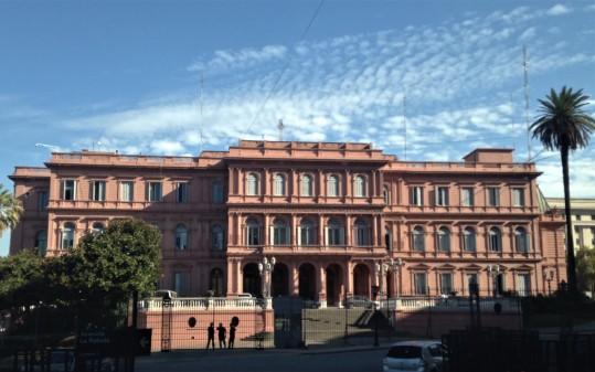 Fachada posterior Casa rosada