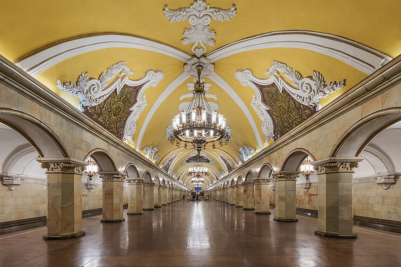Estacion Komsomolskaya by A. Savin